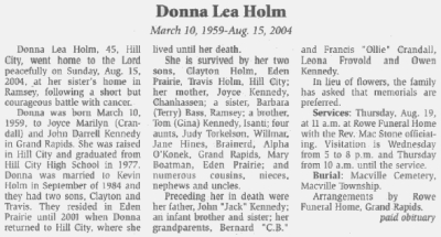"""H Obituaries, Aitkin County, Minnesota"""